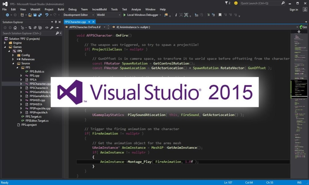 unreal-engine-visual-studio-2015