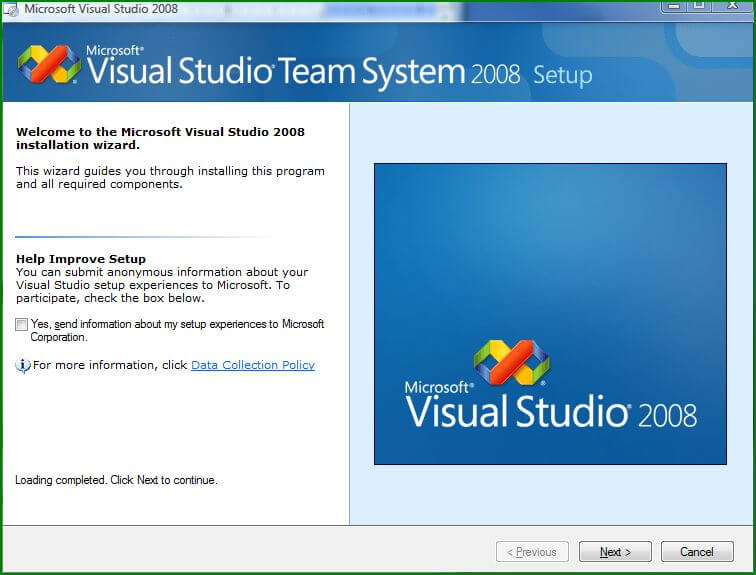 vs2008-welcome