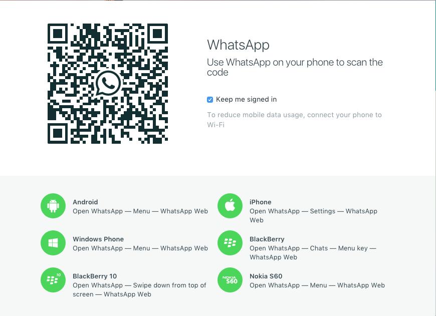 Whataap for mac QR Code